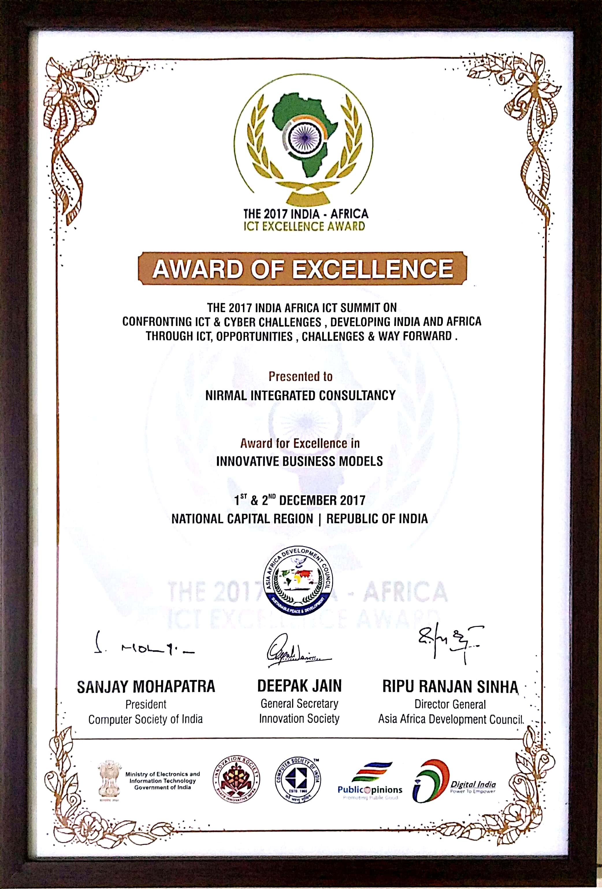 ICT-Excellence-Award-2017-Team-NIC-Certificate